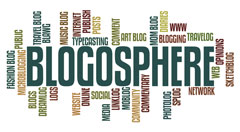 blogosphere - blogging concept