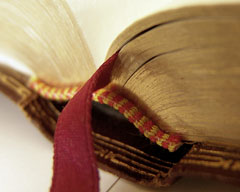 bookmark in Bible